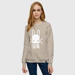 Свитшот хлопковый женский Destiny Rabbit цвета миндальный — фото 2
