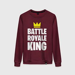 Свитшот хлопковый женский Battle Royale King цвета меланж-бордовый — фото 1