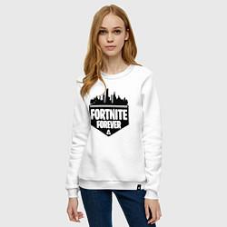 Свитшот хлопковый женский Fortnite Forever цвета белый — фото 2