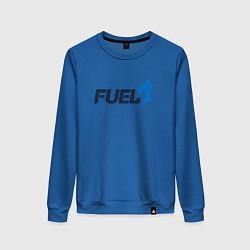 Свитшот хлопковый женский Dallas Fuel цвета синий — фото 1