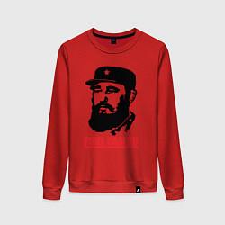 Свитшот хлопковый женский Fidel Castro цвета красный — фото 1