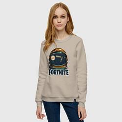 Свитшот хлопковый женский Fortnite: I Need Space цвета миндальный — фото 2