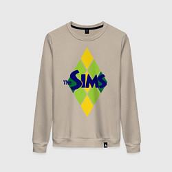 Свитшот хлопковый женский The Sims цвета миндальный — фото 1