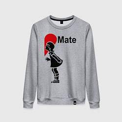 Свитшот хлопковый женский Soul Mate: Girl цвета меланж — фото 1