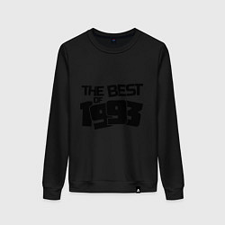 Свитшот хлопковый женский The best of 1993 цвета черный — фото 1