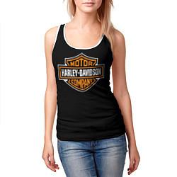 Майка-безрукавка женская Harley-Davidson: Motor Company цвета 3D-белый — фото 2