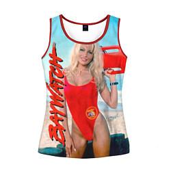 Майка-безрукавка женская Baywatch: Pamela Anderson цвета 3D-красный — фото 1