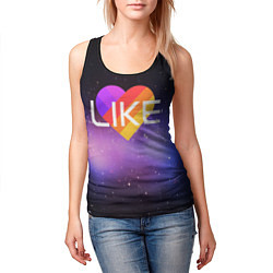 Майка-безрукавка женская LIKE цвета 3D-черный — фото 2
