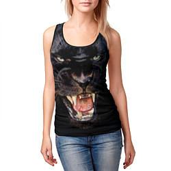 Майка-безрукавка женская Пантера цвета 3D-черный — фото 2