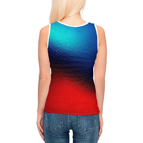 Женская майка без рукавов Синий и красный / 3D-Белый – фото 4