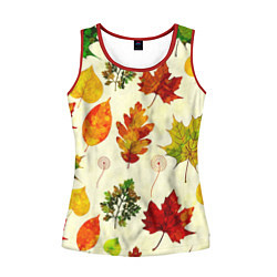 Майка-безрукавка женская Осень цвета 3D-красный — фото 1