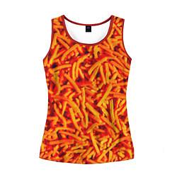 Майка-безрукавка женская Морковь цвета 3D-красный — фото 1