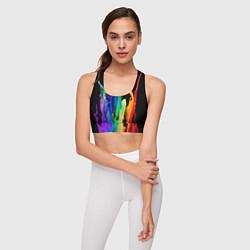 Топик спортивный женский Всплеск красок цвета 3D — фото 2