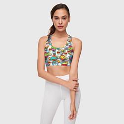 Топик спортивный женский Pop art Fashion цвета 3D — фото 2