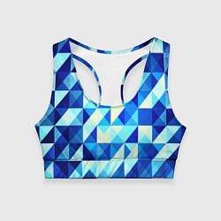 Женский спортивный топ Синяя геометрия