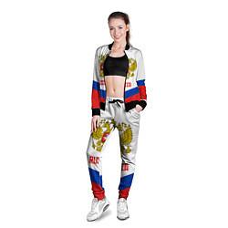 Олимпийка женская Russia Hockey Team цвета 3D-черный — фото 2