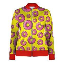 Олимпийка женская Пончики Гомера цвета 3D-красный — фото 1