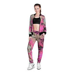 Олимпийка женская Краска цвета 3D-черный — фото 2