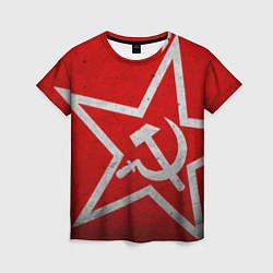 Женская футболка Флаг СССР: Серп и Молот