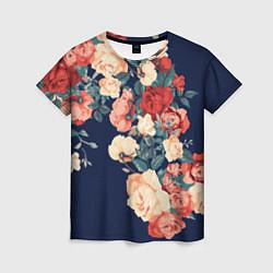 Женская футболка Fashion flowers