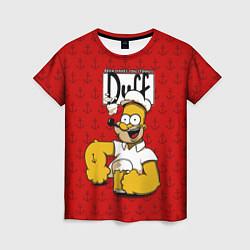 Футболка женская Duff Beer цвета 3D — фото 1
