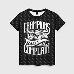Футболка женская Champions Train цвета 3D — фото 1