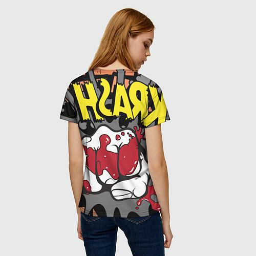 Женская футболка Удар / 3D – фото 4