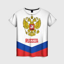 Футболка женская Russia Hockey Team цвета 3D — фото 1