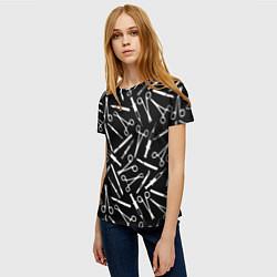 Женская 3D-футболка с принтом Шприцы, цвет: 3D, артикул: 10130193803229 — фото 2
