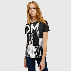 Футболка женская Depeche mode: black цвета 3D — фото 2