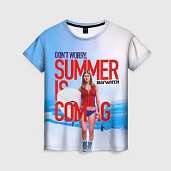 Футболка женская Summer is coming цвета 3D — фото 1