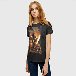 Футболка женская Amon Amarth: Dark warrior цвета 3D — фото 2