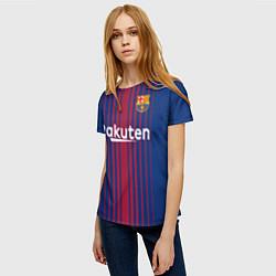 Футболка женская FCB: Лионель Месси цвета 3D — фото 2