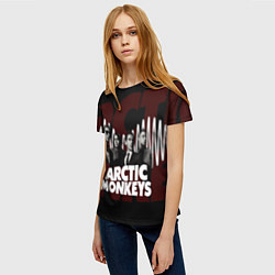 Футболка женская Arctic Monkeys: White Waves цвета 3D — фото 2