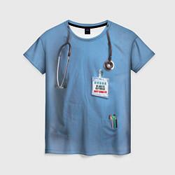 Футболка женская Костюм врача цвета 3D-принт — фото 1