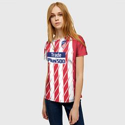 Футболка женская Atletico Madrid FC: Grizman Home 17/18 цвета 3D-принт — фото 2