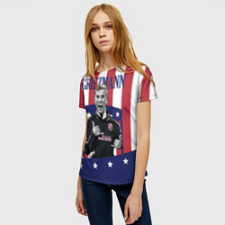 Футболка женская Griezmann: Atletico Star цвета 3D — фото 2