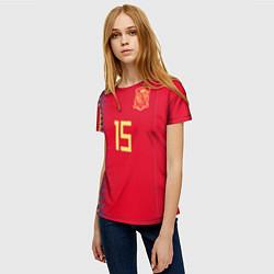 Футболка женская Сборная Испании: Рамос ЧМ 2018 цвета 3D-принт — фото 2