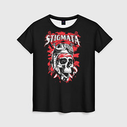 Футболка женская Stigmata Skull цвета 3D-принт — фото 1