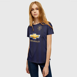 Футболка женская FC MU: Pogba Away 18/19 цвета 3D-принт — фото 2