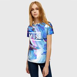 Футболка женская MUSE: Blue Colours цвета 3D — фото 2