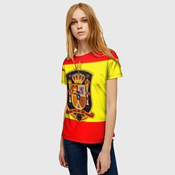 Футболка женская Сборная Испании цвета 3D — фото 2