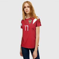 Футболка женская Сборная России: Головин ЧМ-2018 цвета 3D — фото 2