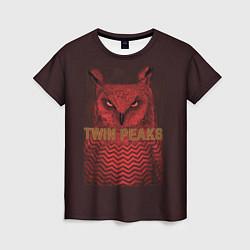 Футболка женская Twin Peaks: Red Owl цвета 3D-принт — фото 1