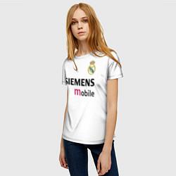 Футболка женская FC Real Madrid: Beckham Retro цвета 3D — фото 2