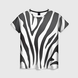 Футболка женская Африканская зебра цвета 3D-принт — фото 1