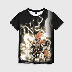 Футболка женская The Mighty Thor цвета 3D — фото 1