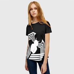 Футболка женская Venom spider цвета 3D-принт — фото 2