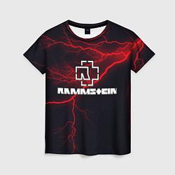 Футболка женская Rammstein цвета 3D-принт — фото 1