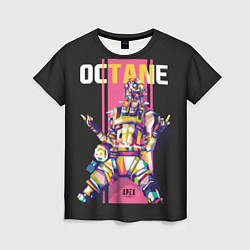 Футболка женская Apex Legends Octane цвета 3D — фото 1